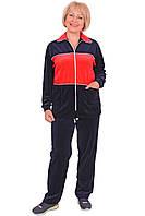 Женский велюровый спортивный костюм (размеры XL-5XL)