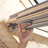 Мансардное окно Velux Оптима GZR 305OB PR06 ручка снизу + оклад EZR0000 PR06 94*118 (0830), фото 2