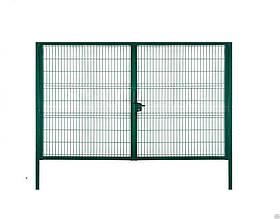 Ворота сварные с ПВХ покрытием Сітка Захід  высота 1.7м длина 5м компл столбы навесы задвижки(2216)