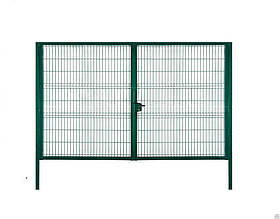 Ворота сварные с ПВХ покрытием Сітка Захід  высота 1.5м длина 4м компл столбы навесы задвижки (2217)