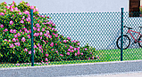 Сетка рабица в ПВХ 35х35/Ф2,5(1,5)мм/ высота 1.5м х10м (RAL6005), фото 2