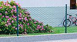 Сетка рабица в ПВХ 50х50/Ф3,5(1,9)мм/ высота 1.5м х10м (RAL6005), фото 2