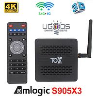 TV-Приставка Ugoos TOX1 4/32GB S905X3 (Android Smart TV BOX, Андроид Смарт ТВ Приставка, Андроїд тв бокс)