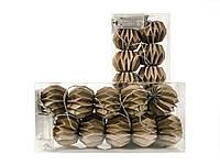 Гирлянда Decorino Capuccino Paper Balls 10led, диам 7.5см, длина 235см на батарейках АА