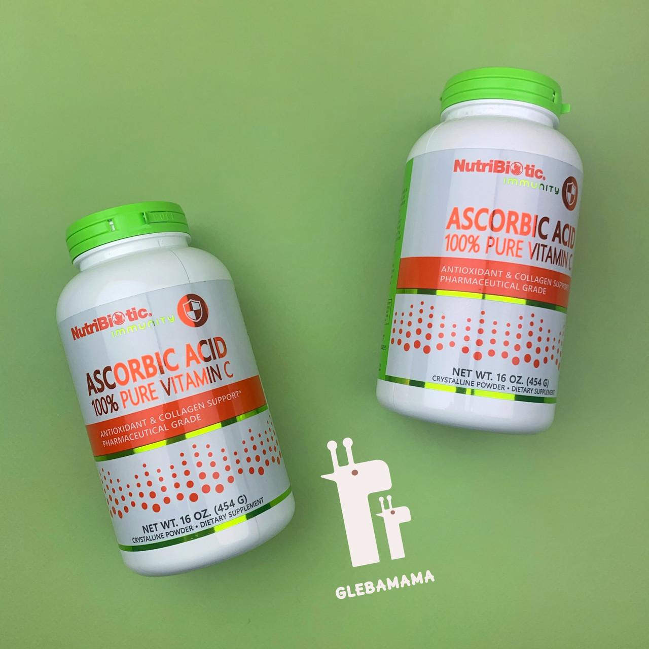 Аскорбиновая кислота, 100% витамин С, 454 гр