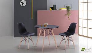 Комплект обідній меблі Лофт №2 чорна для ресторану