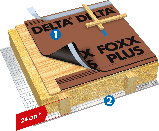 ДИФФУЗИОННАЯ МЕМБРАНА DORKEN DELTA®-FOXX PLUS 270 Г/М.КВ. 1,5М Х 50М (1343) , фото 2