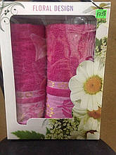 Набор махровых полотенец Floral Design