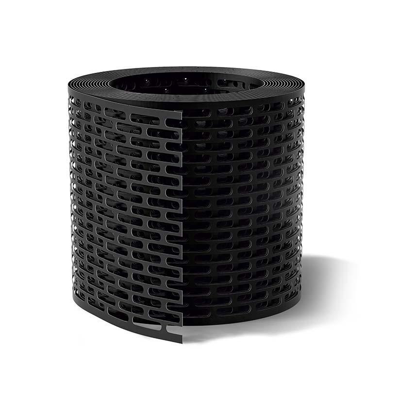 Лента вентиляции свеса WA-BIS 100 х 5000 мм Черный (1374)