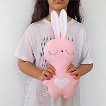 Мягкая игрушка Strekoza Заяц Засыпаяц 33см розовый