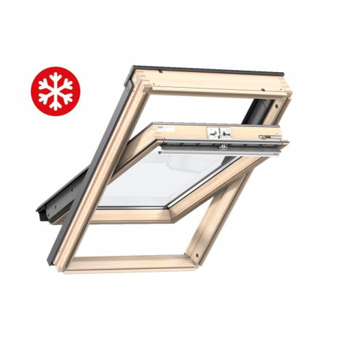 Мансардное окно Velux Стандарт Плюс GLL1061B, 78*140см экстра теплое, ручка снизу + оклад