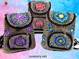 Жіночі красиві тканинні сумки в етнічному стилі