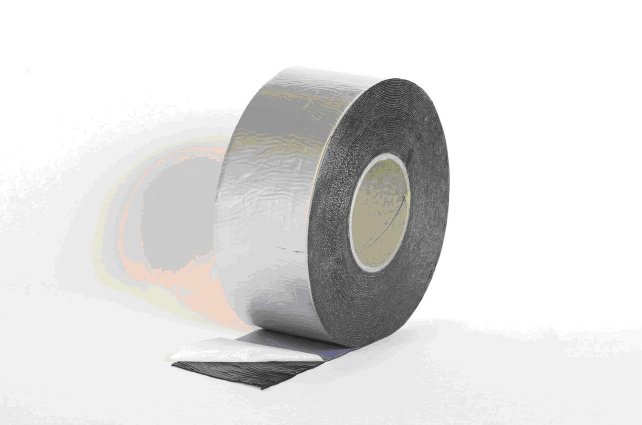 LOGICTAPE лента бутил-каучук, 150мм/10м цвет алюминий