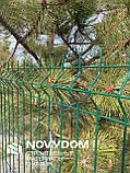 Ограждение, секционный забор, секции ограждения СІТКА ЗАХІД ф3.4оц+ПВХ ячейка 200х50мм 1.03/2.5м (2053), фото 7