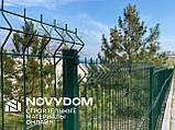 Ограждение, секционный забор, секции ограждения СІТКА ЗАХІД ф3.4оц+ПВХ ячейка 200х50мм 1.03/2.5м (2053), фото 8