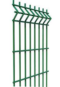 Ограждение, секционный забор, секция ф3.4оц+ПВХ ячейка 200х50мм высота 1.23м длина 2.5м (2054)