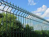 Секционный забор, ограждение, секция СІТКА ЗАХІД ф3.4оц+ПВХ ячейка 200х50мм высота 1.73м длина 2.5м (2056), фото 3