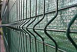Секционный забор, ограждение, секция СІТКА ЗАХІД ф3.4оц+ПВХ ячейка 200х50мм высота 1.73м длина 2.5м (2056), фото 4
