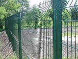 Секционный забор, ограждение, секция СІТКА ЗАХІД ф3.4оц+ПВХ ячейка 200х50мм высота 1.73м длина 2.5м (2056), фото 5