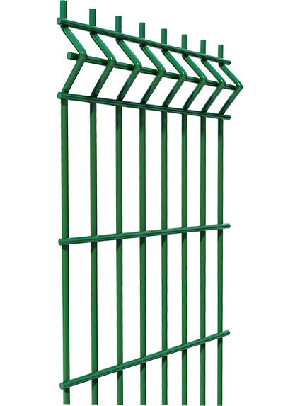 Секционный забор, ограждение, Секция СІТКА ЗАХІД ф3.4оц+ПВХ ячейка 200х50мм высота 2.03м длина 2.5м (2057)