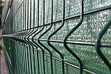Секционный забор, ограждение, Секция СІТКА ЗАХІД ф3.4оц+ПВХ ячейка 200х50мм высота 2.03м длина 2.5м (2057), фото 4