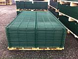 Секционный забор, ограждение, Секция СІТКА ЗАХІД ф3.4оц+ПВХ ячейка 200х50мм высота 2.03м длина 2.5м (2057), фото 9
