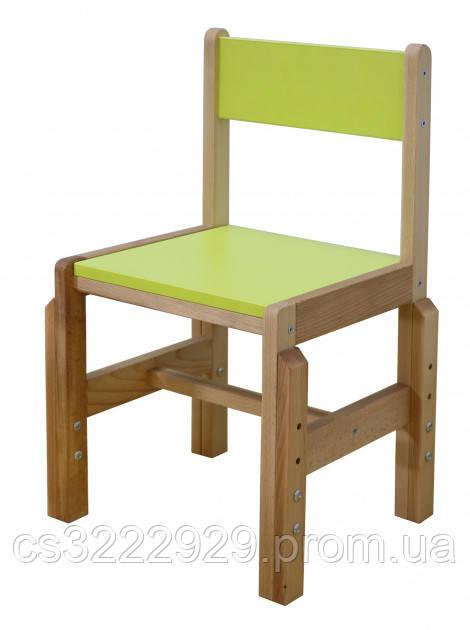 Детский стульчик растущий деревянный Смайлик Mr.Woodyson