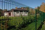 Секционный забор, ограждение, Секция СІТКА ЗАХІД ф4оц+ПВХ ячейка 200х50мм высота 1.03м длина 2.5м (2062), фото 6