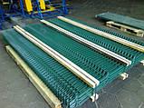 Секционный забор, ограждение, Секция СІТКА ЗАХІД ф4оц+ПВХ ячейка 200х50мм высота 1.03м длина 2.5м (2062), фото 8