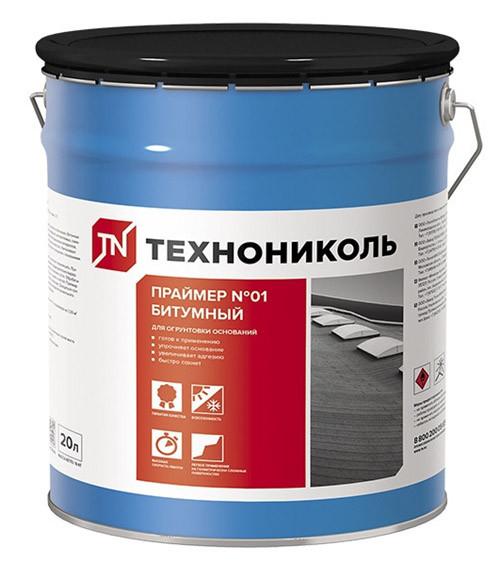 Праймер битумный готовый (ТЕХНОНИКОЛЬ №01) 20л/16кг