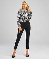 Блуза женская с леопардовым принтом OLMOD 701-2 M белая