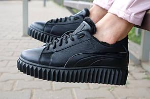 Женские ботинки кожаные зимние черные Nev-Men P14, фото 2