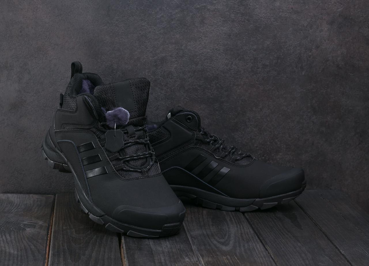 Мужские кроссовки искусственная кожа зимние черные Ditof А 1881 -15
