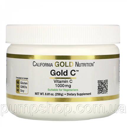 Вітамін C в порошку California Gold Nutrition Gold C 1000 мг 250 г, фото 2