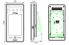 Устройство управления доступом в помещение по биометрии лиц и ладоней ZKTeco SpeedFace-V4L, фото 7