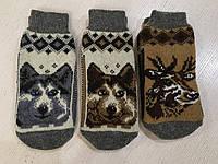 Шкарпетки -сліди зимові шерстяні дорослі 40-42 розмір, фото 1