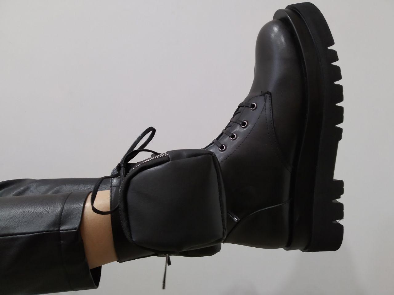 Ботинки с карманом Molly Bessa 4403024 37 Черные кожа