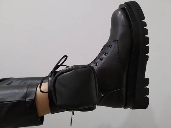 Ботинки с карманом Molly Bessa 4403024 37 Черные кожа, фото 2