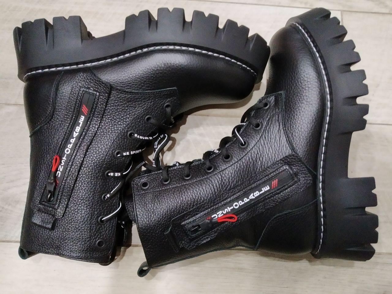 Ботинки зимние на платформе Teona 20209 39 Черные кожа