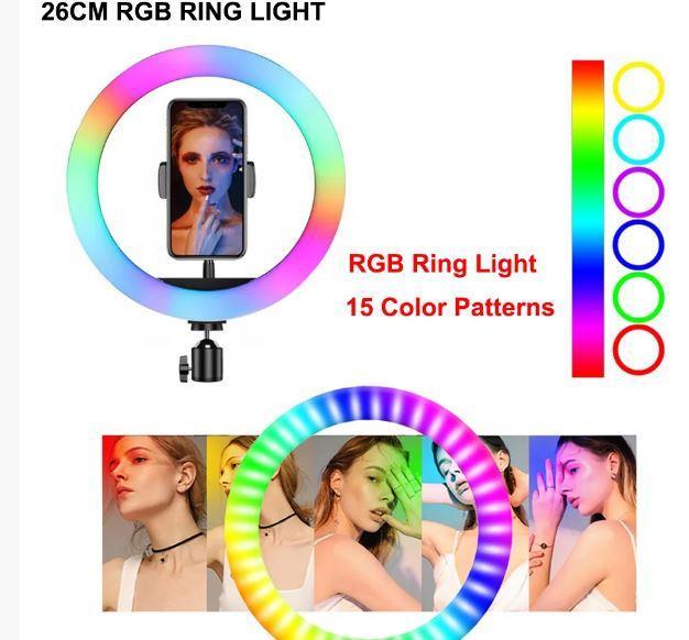 Кольцевая LED лампа для селфи MJ26 RGB