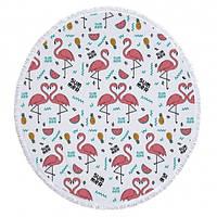 Пляжный коврик Summer Flamingo Розовый kj123288, КОД: 1533182