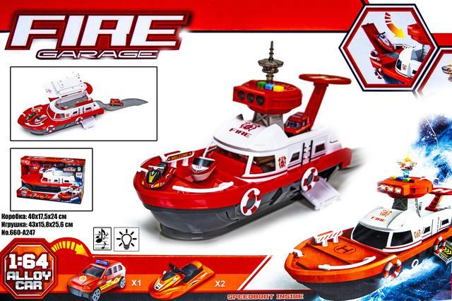 Игрушечный катер береговая охрана FIRE