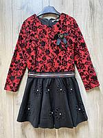 Нарядное платье с перфорацией. 10 и 12 лет.