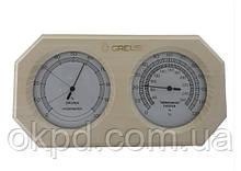 Термогигрометр Greus 26х14 липа для бани и сауны
