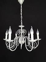 Классическая люстра свеча белая на  6 ламп, фото 1