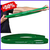 Спортивная резина PowerPlay 4115 Green 16-32kg резиновый эспандер-петля жгут для фитнеса и силовых тренировок