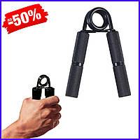 Эспандер кистевой SportVida пружинный стальной жесткий ручной эспандер-щипцы для кисти и предплечья рук 45 кг