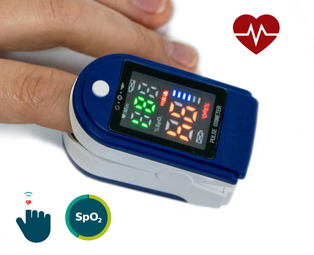 Пульсоксиметр LK87, пульсометр для измерения кислорода в крови на палец (цветной экран) | пульсоксіметр