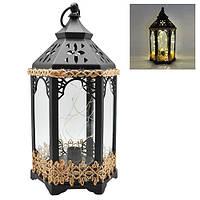 Лампа-фонарь декоративный с подсветкой 14*14*33см