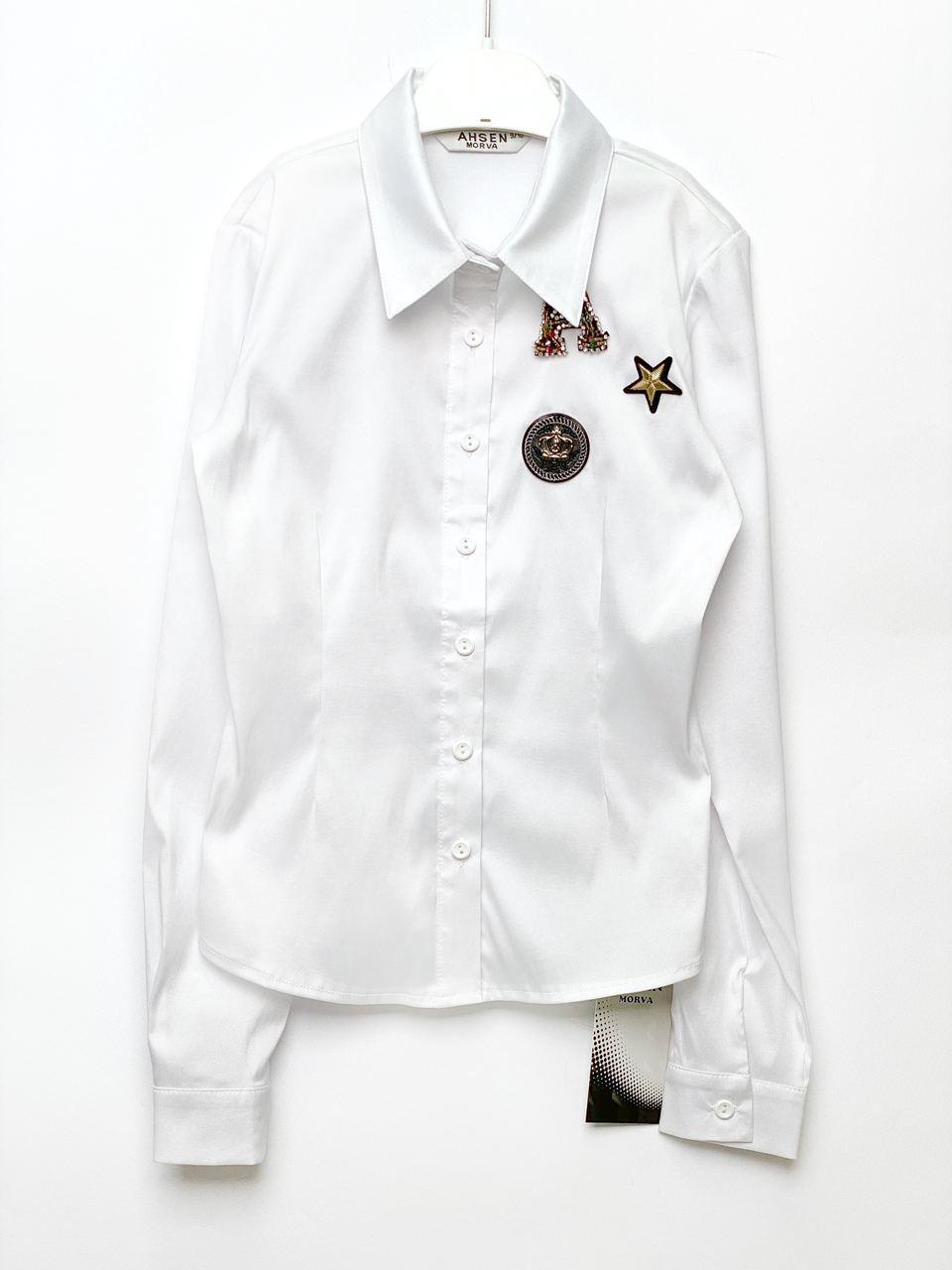 Белая блуза для девочки, размеры 9, 15 лет